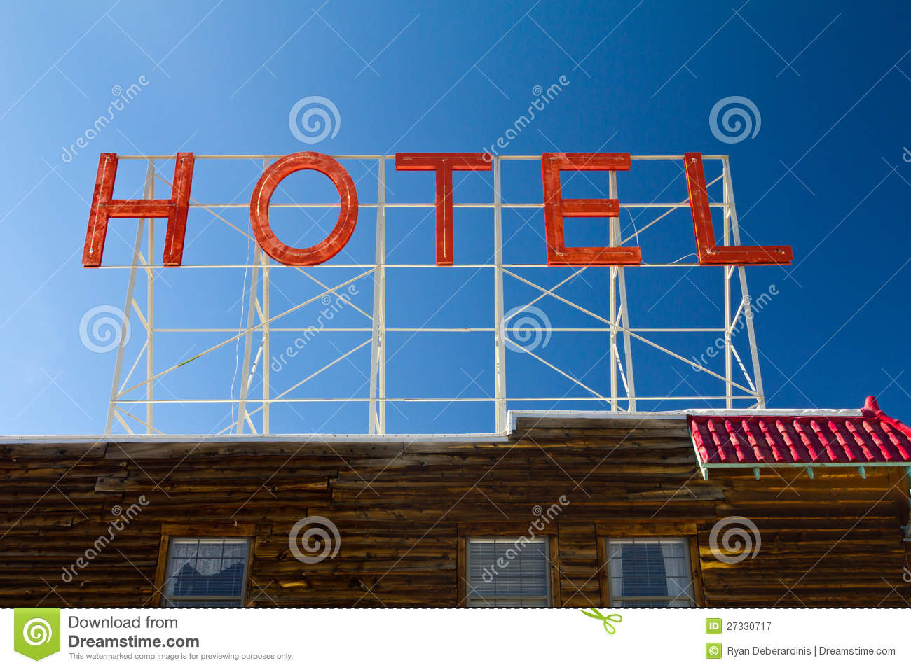 Classic Motel Old Vintage Hotel Sign Letters Stock Image Image 27330717