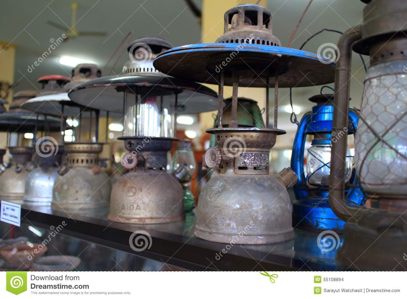 Old vintage lantern editorial stock image  Image of