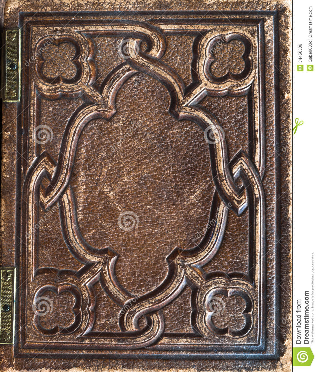 Old Fashioned Book Cover : Old vintage leather book cover stock photo image of
