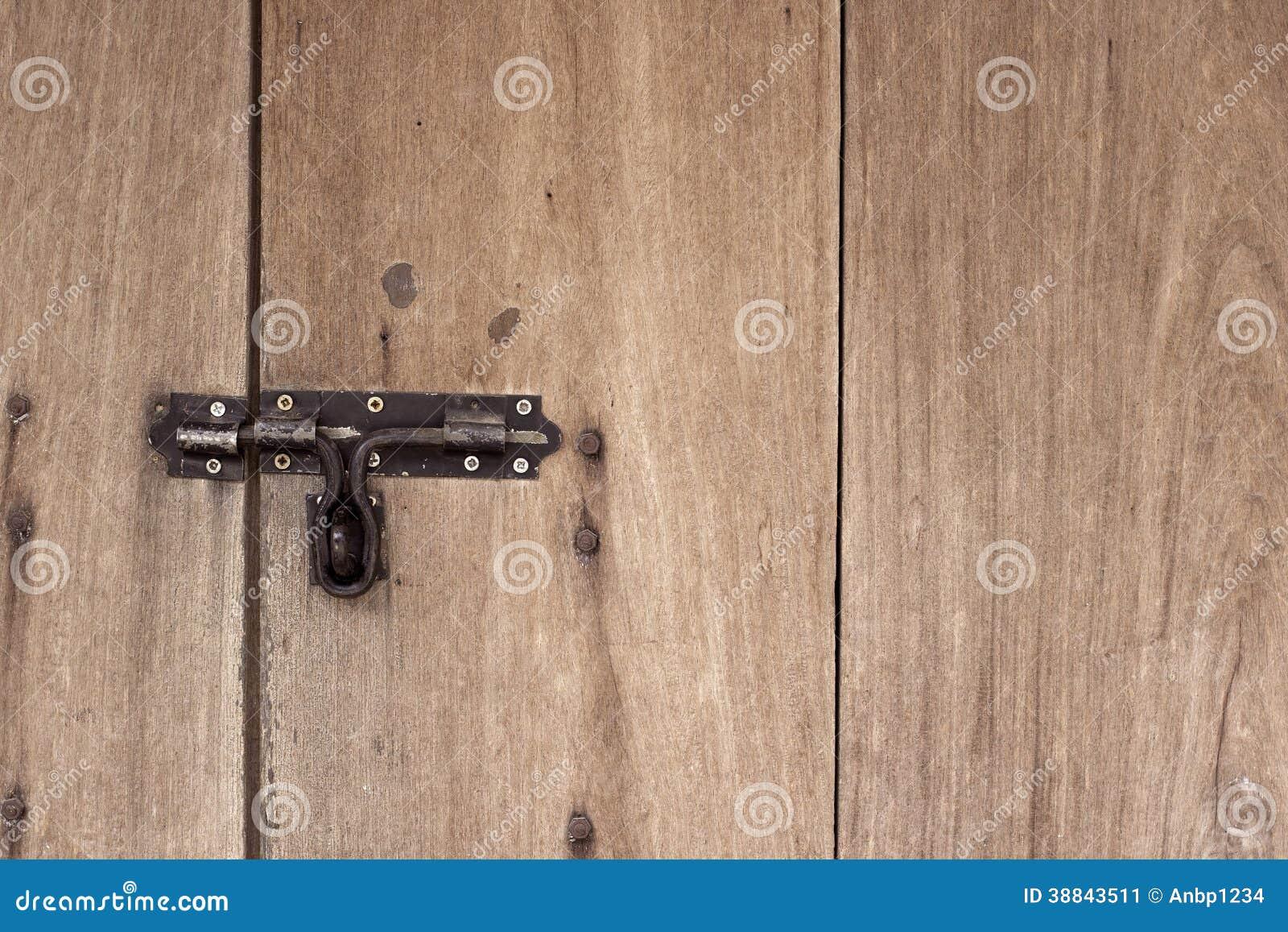 Old Vintage Metal Door Lock.