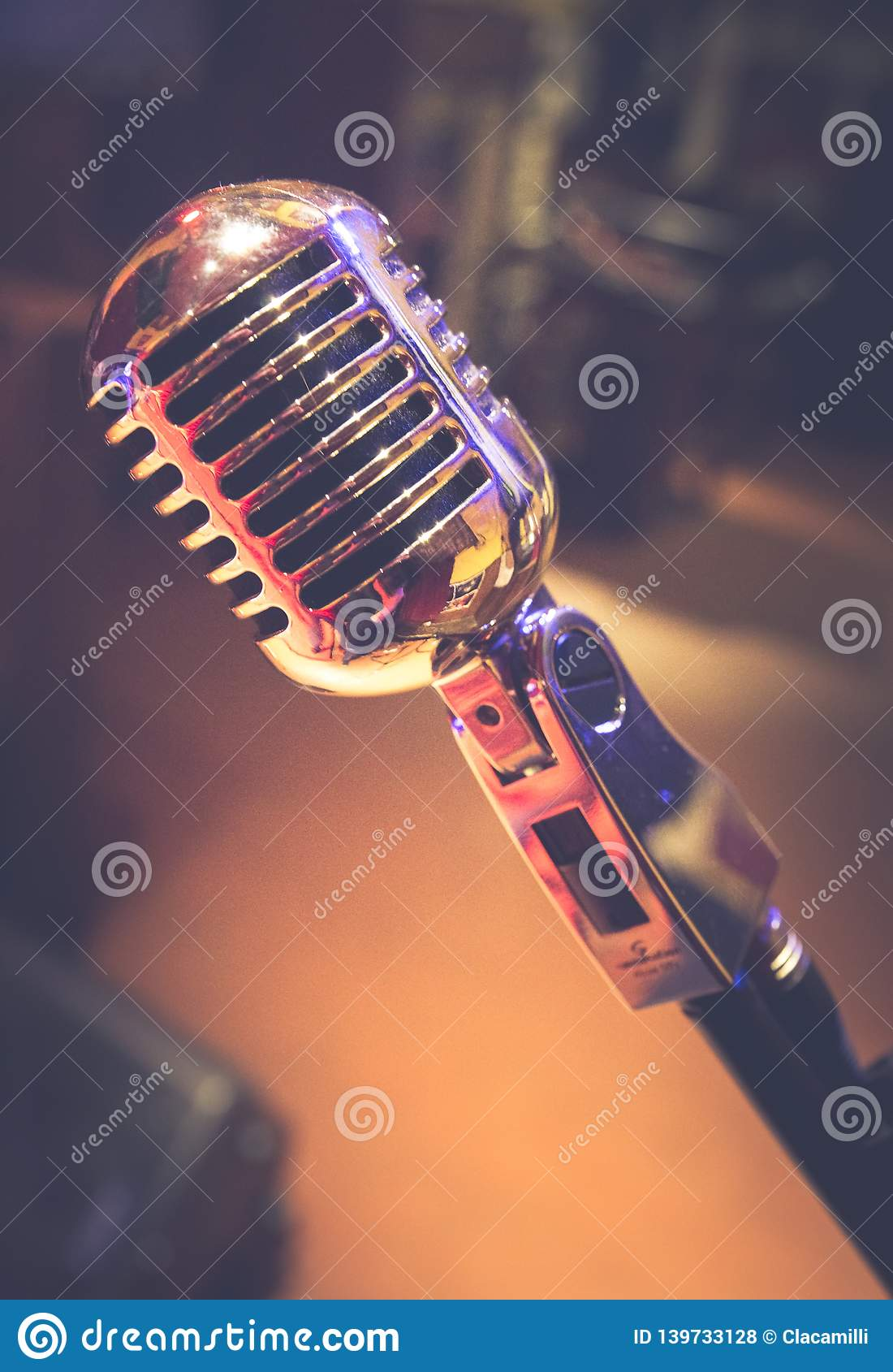 Old vintage microphone since 1950