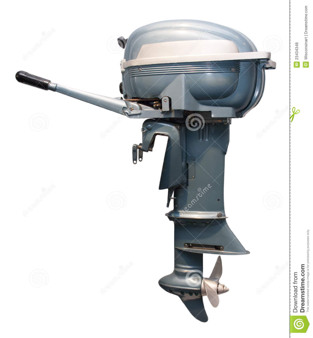 Old Vintage Outboard Boat Motor Engine Isolated Royalty Free Stock ...