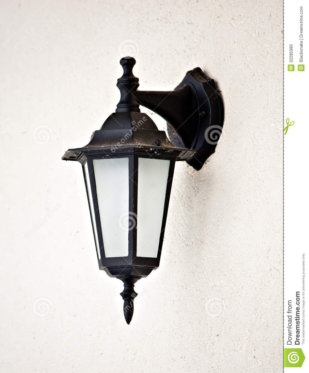 Wall Hanging Lamps : Old Vintage Outdoor Lantern Wall Hanging Lamp Stock Photo - Image: 32285980
