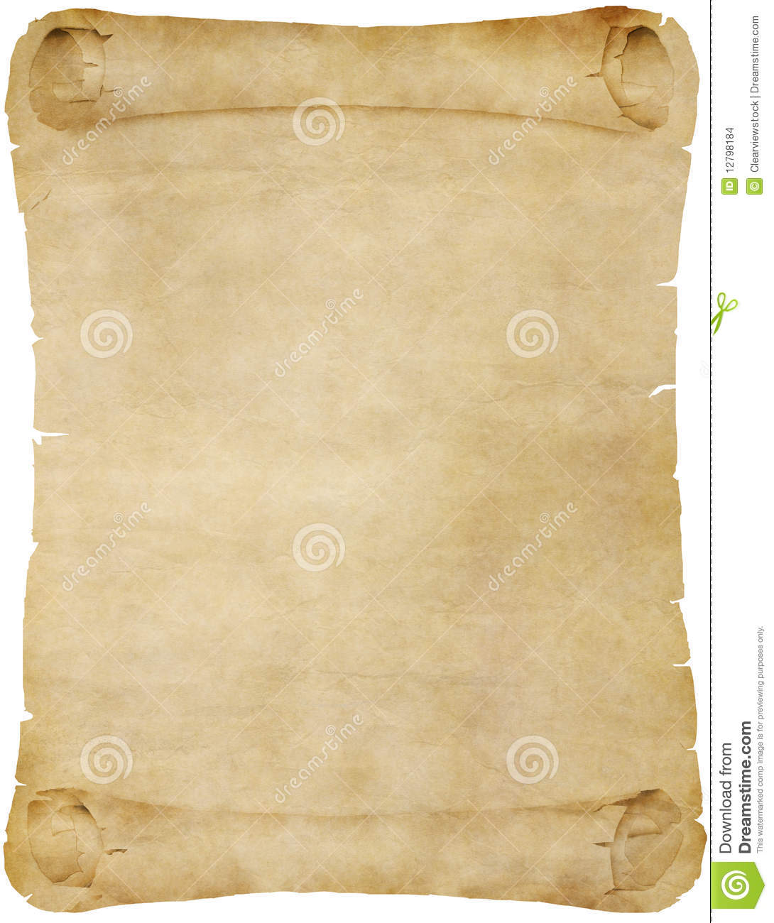 old vintage paper or parchment scroll stock vector illustration of