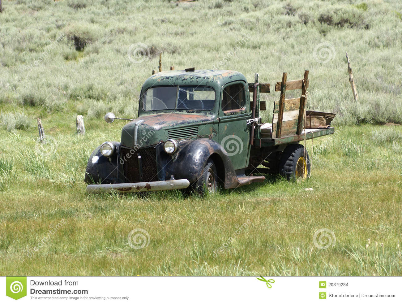 Old Vintage Pickup Truck stock photo. Image of bodie - 20879284