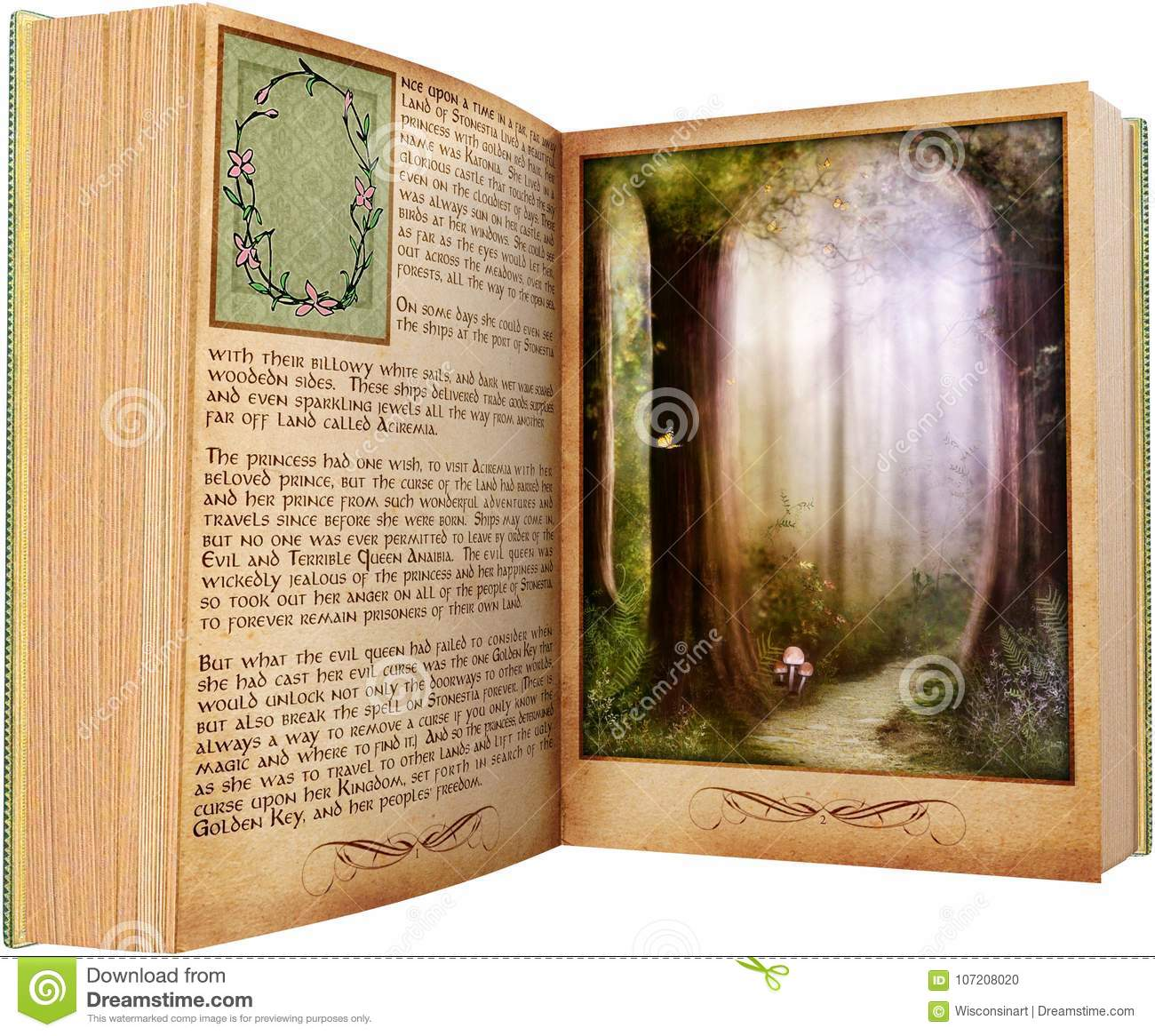 Reading Book Read Story Isolated Stock Photo