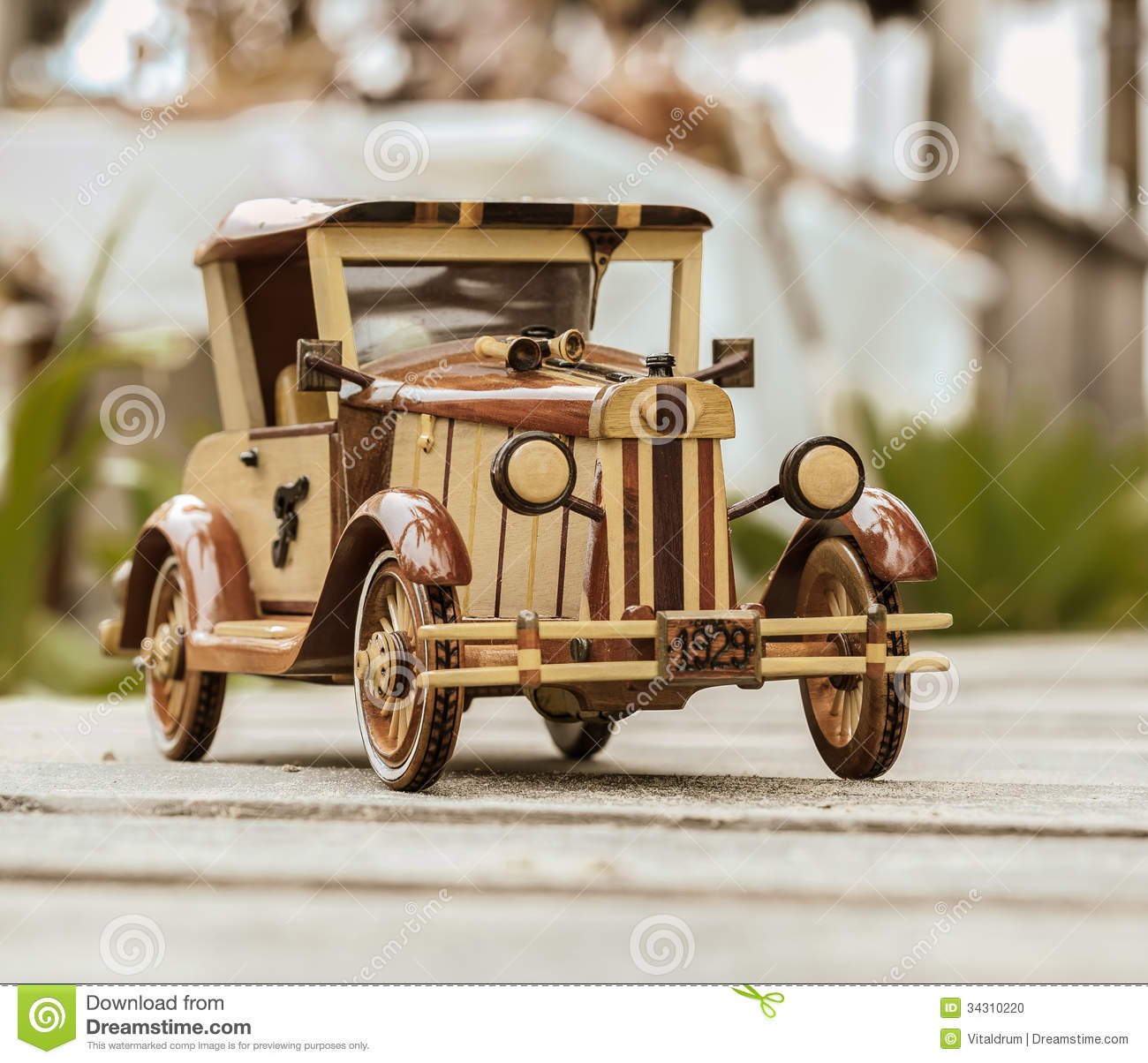Old Vintage Retro Style Handmade Car Model Stock Photo - Image of ...