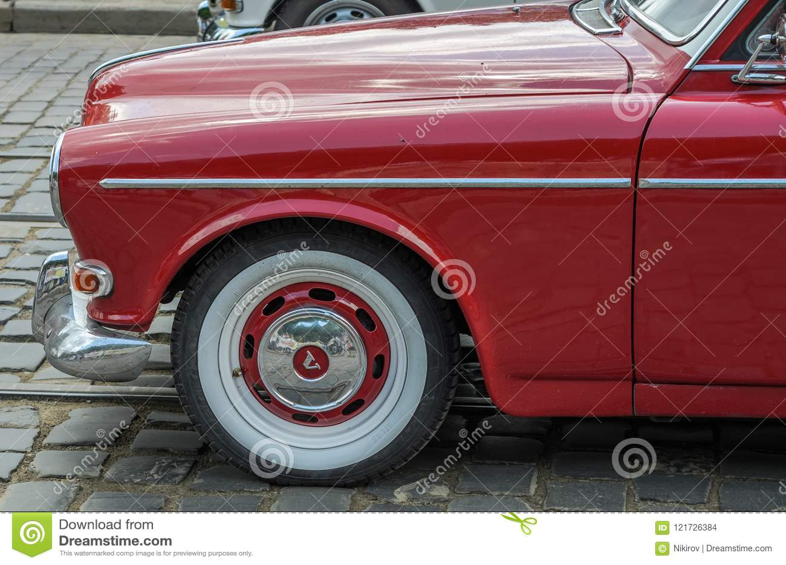 Lviv Ukraine June 2018 Old Vintage Retro Volvo Car Rides Through