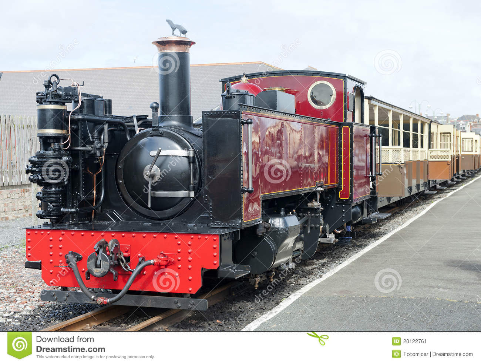 Old Vintage Steam Railway Engine Stock Image - Image: 20122761