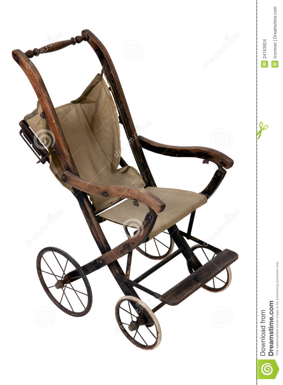 Old Vintage Styled Baby Carriage-stroller Stock Images - Image ...