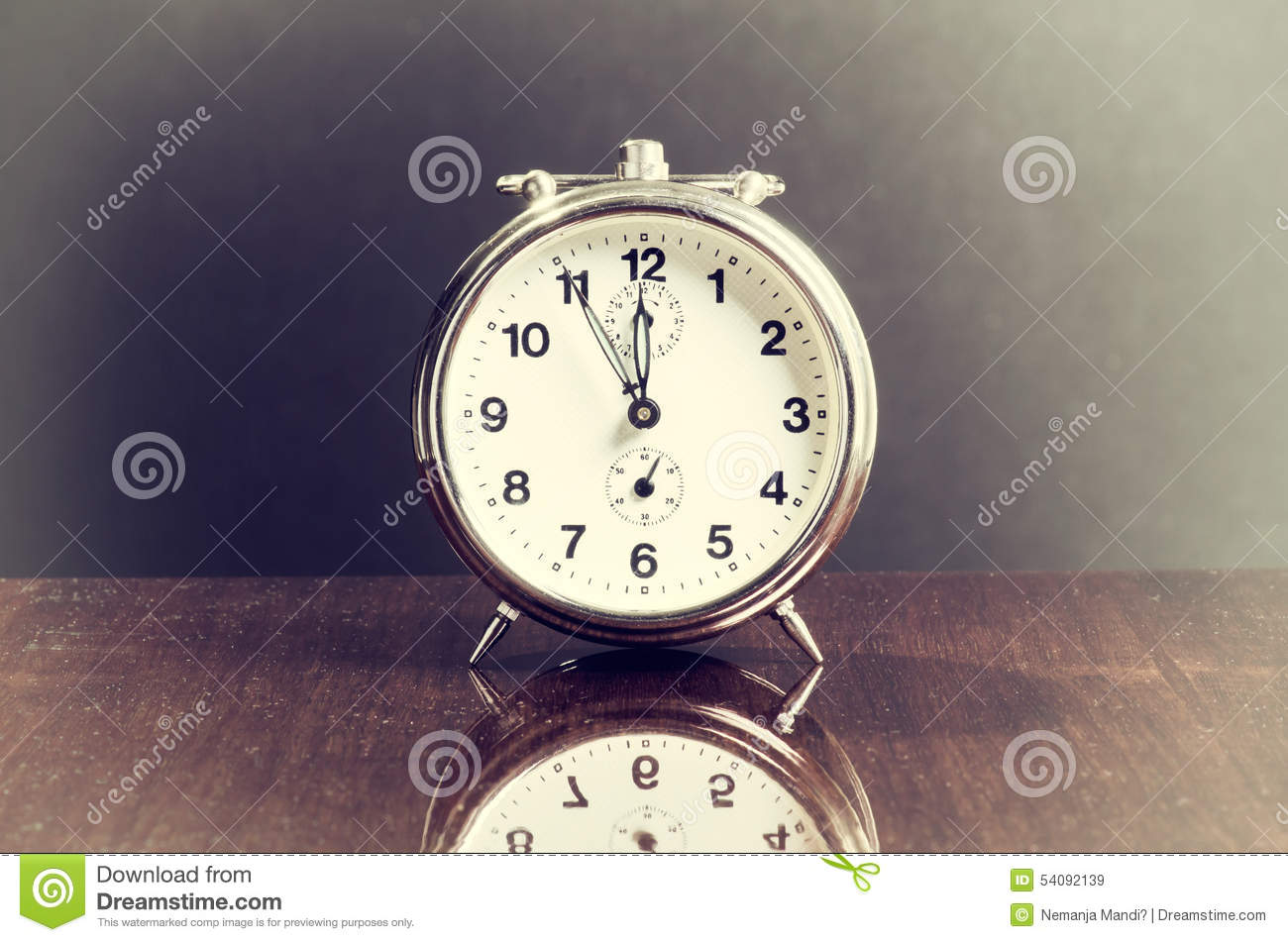 Marvelous Old Vintage Table Clock Royalty Free Stock Images