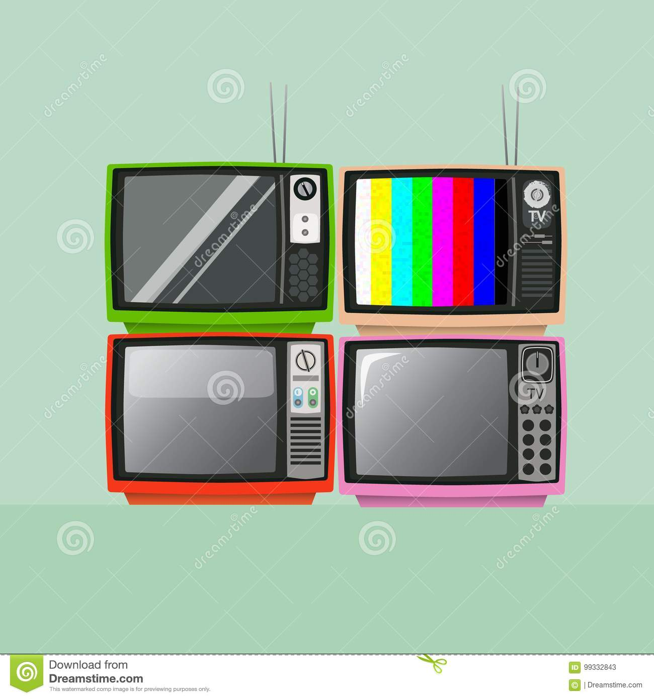 Old Vintage TV. Retro Television. Stock Vector ...