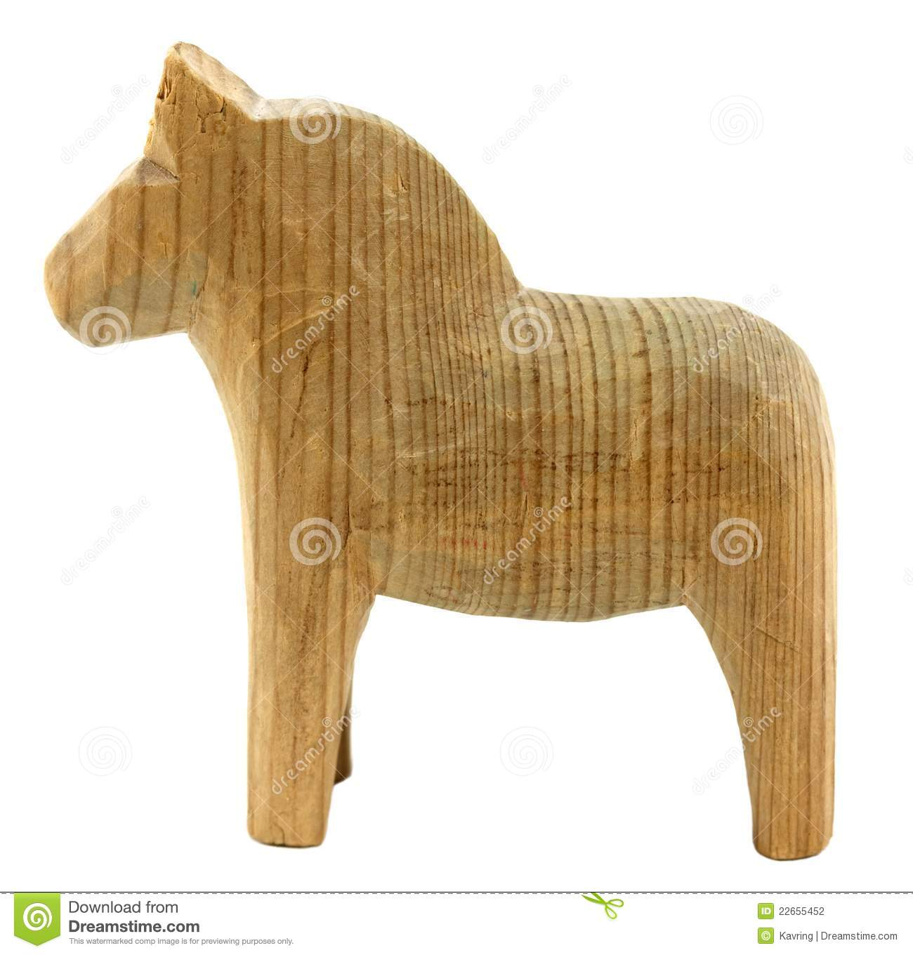 Old Vintage Wooden Horse Stock Photography - Image: 22655452