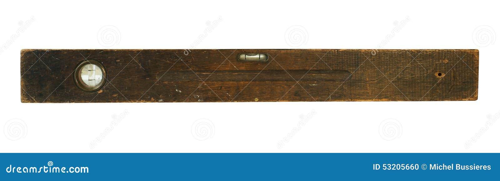 Old Vintage Wooden Level Stock Photo Image Of Handyman 53205660