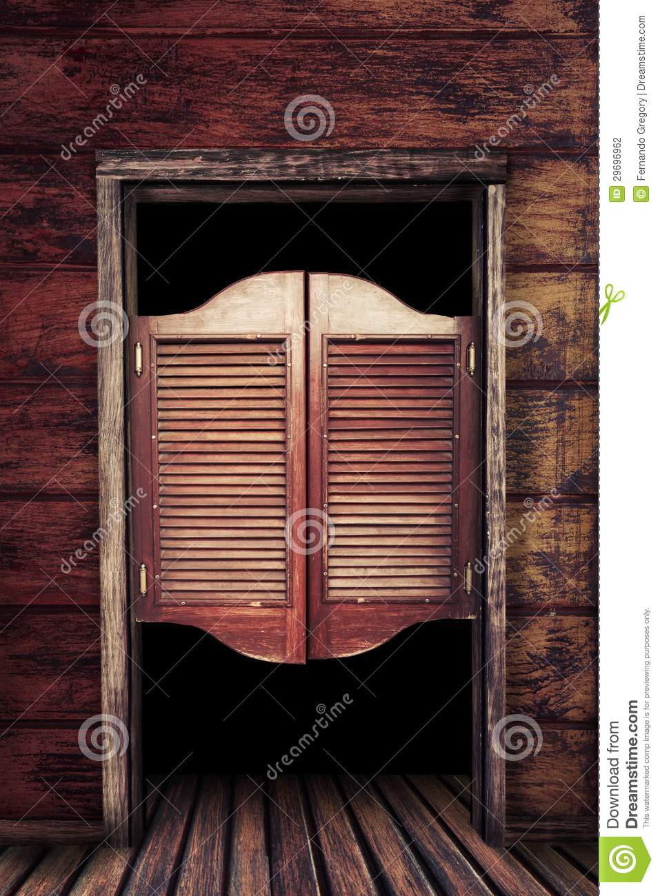 Old Vintage Wooden Saloon Doors Stock Photography Image