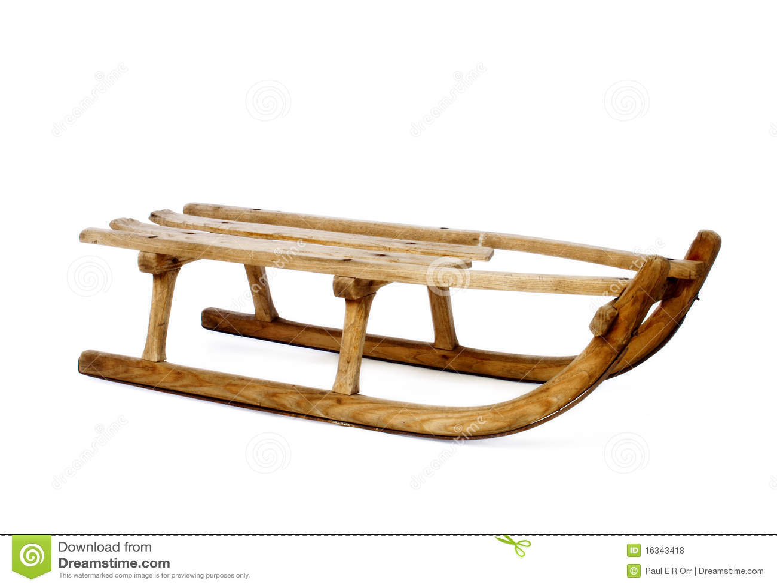 Old vintage wooden sled on white stock photo image 16343418 for Vintage sleds