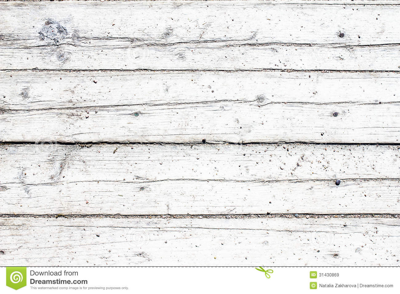 Old vintage wooden white background table or floor stock for Planche de bois blanchi