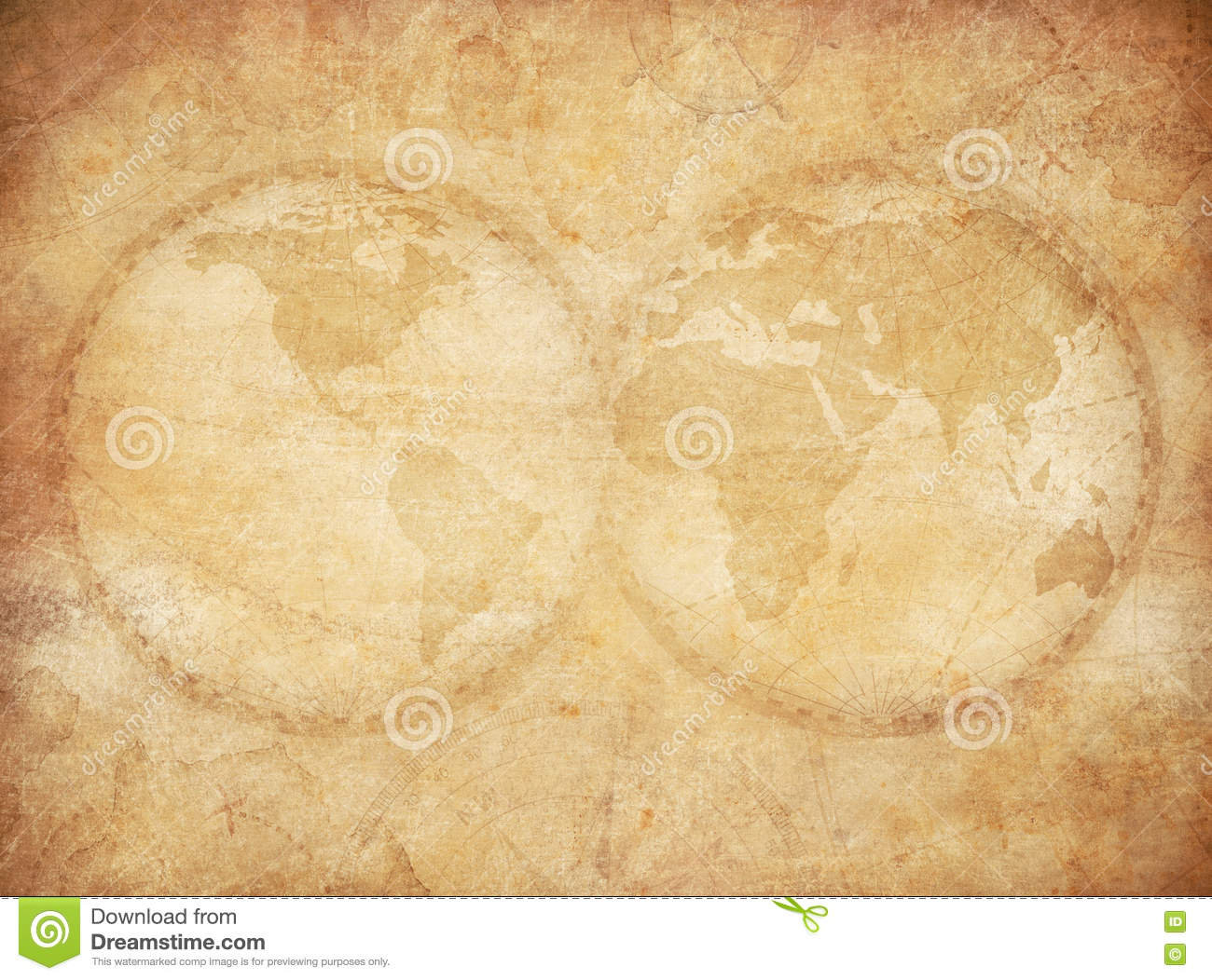 Old vintage world map background stock illustration illustration old vintage world map background royalty free illustration gumiabroncs