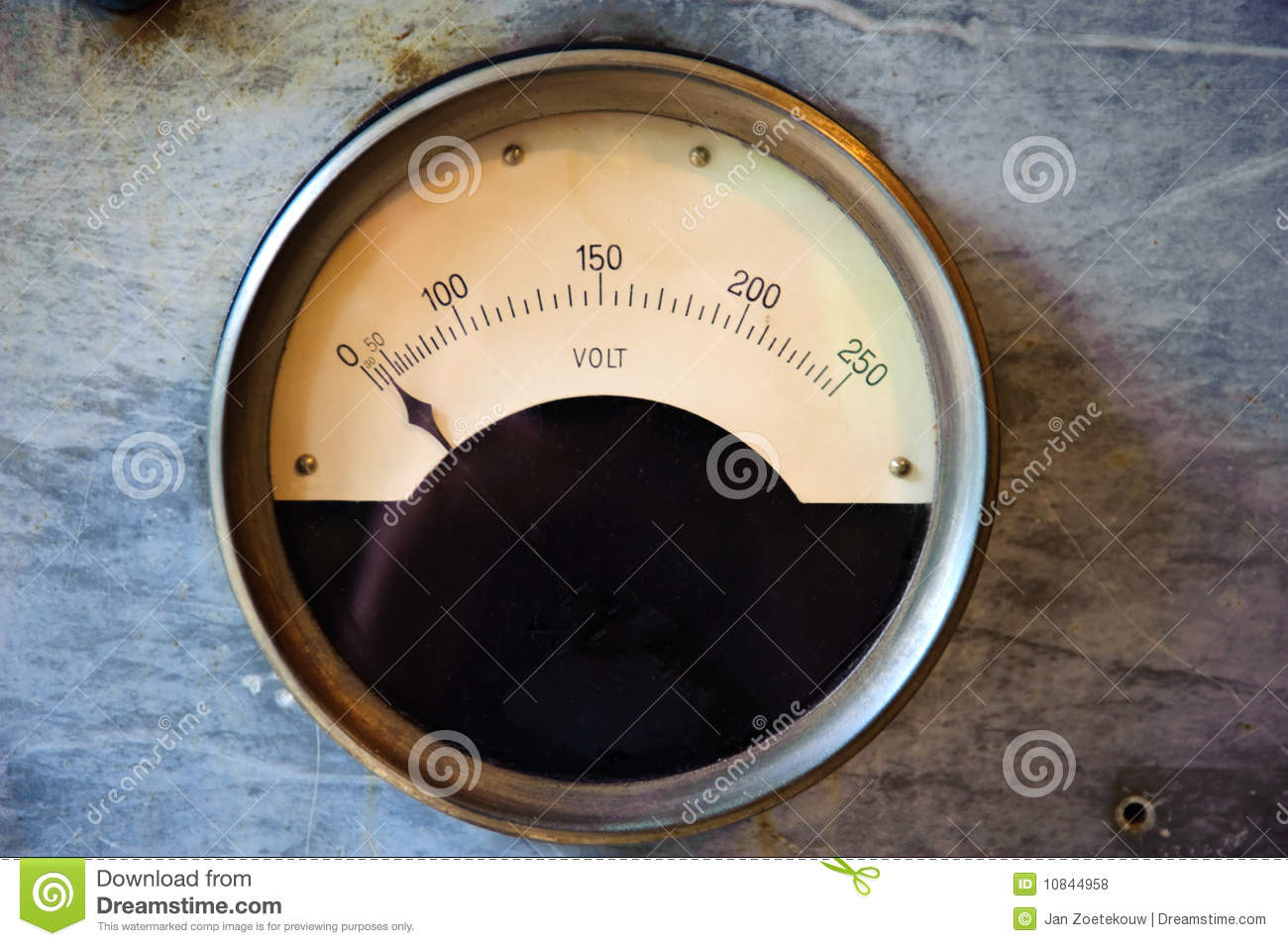 Commercial Electric Volt Meters : Old volt meter royalty free stock photos image