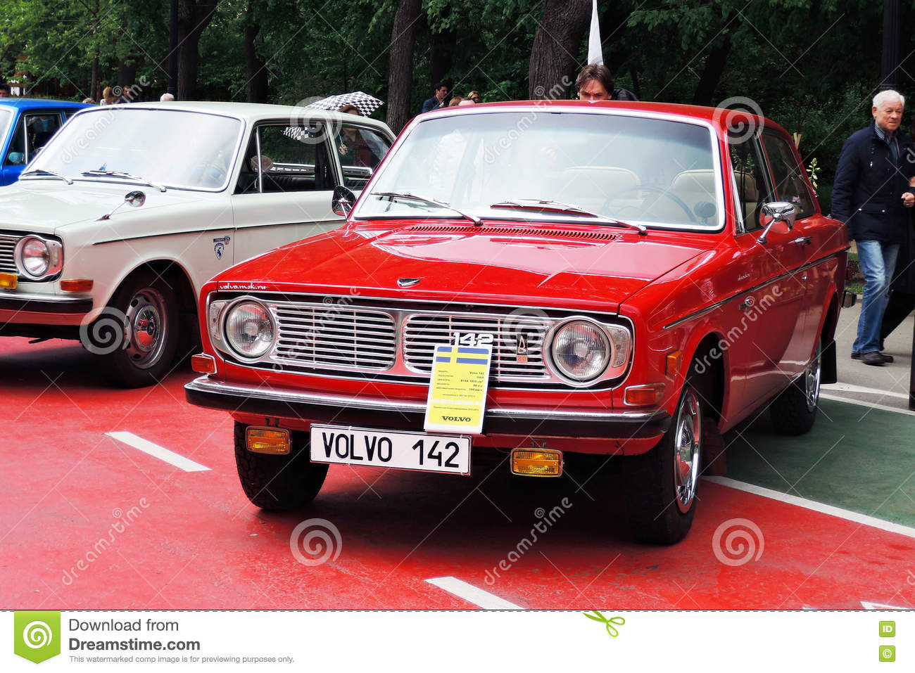 Old Volvo Cars At Retro Fest In Moscow Editorial Stock Photo