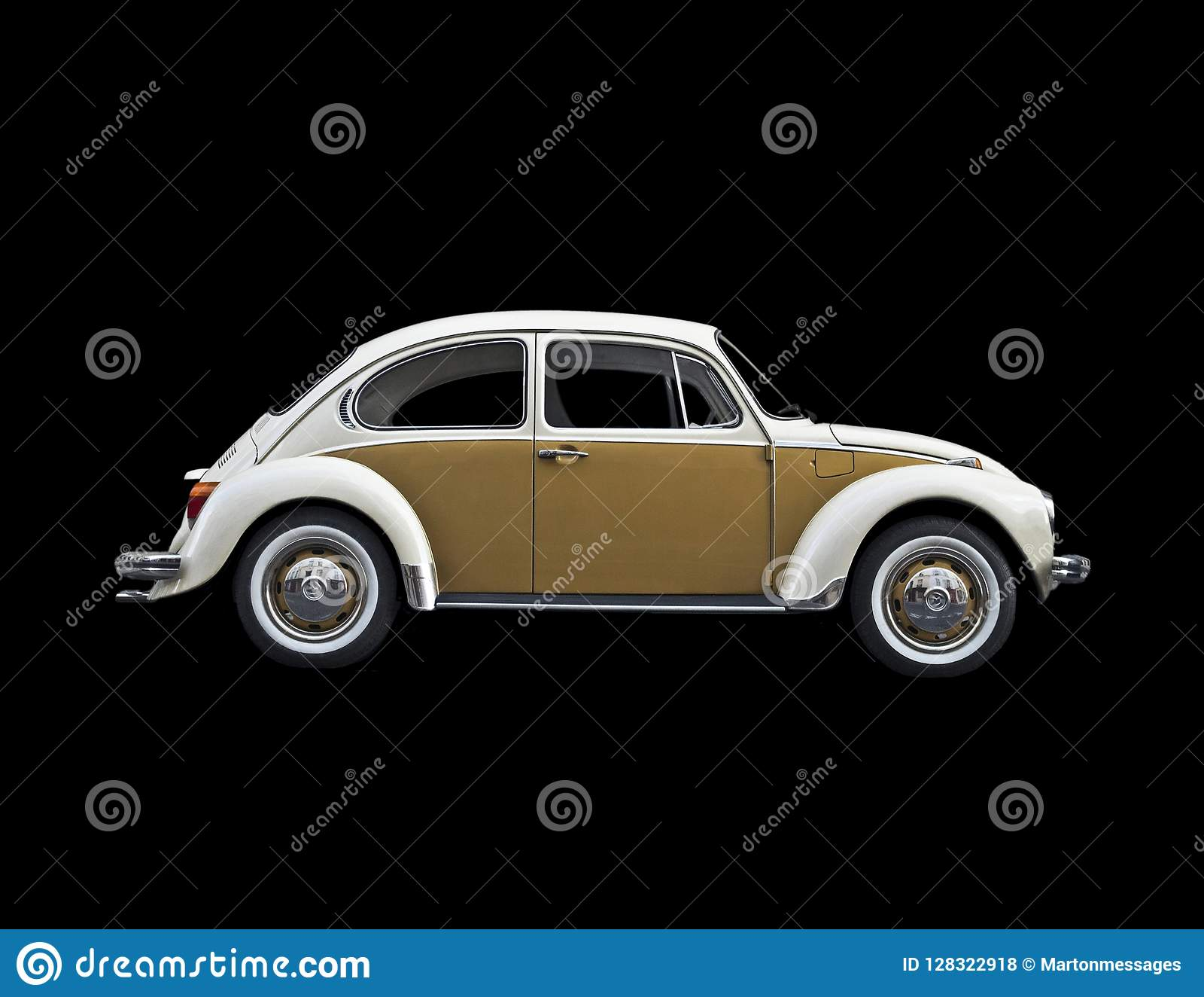 Old VW Beatle stock photo  Image of collector, profile