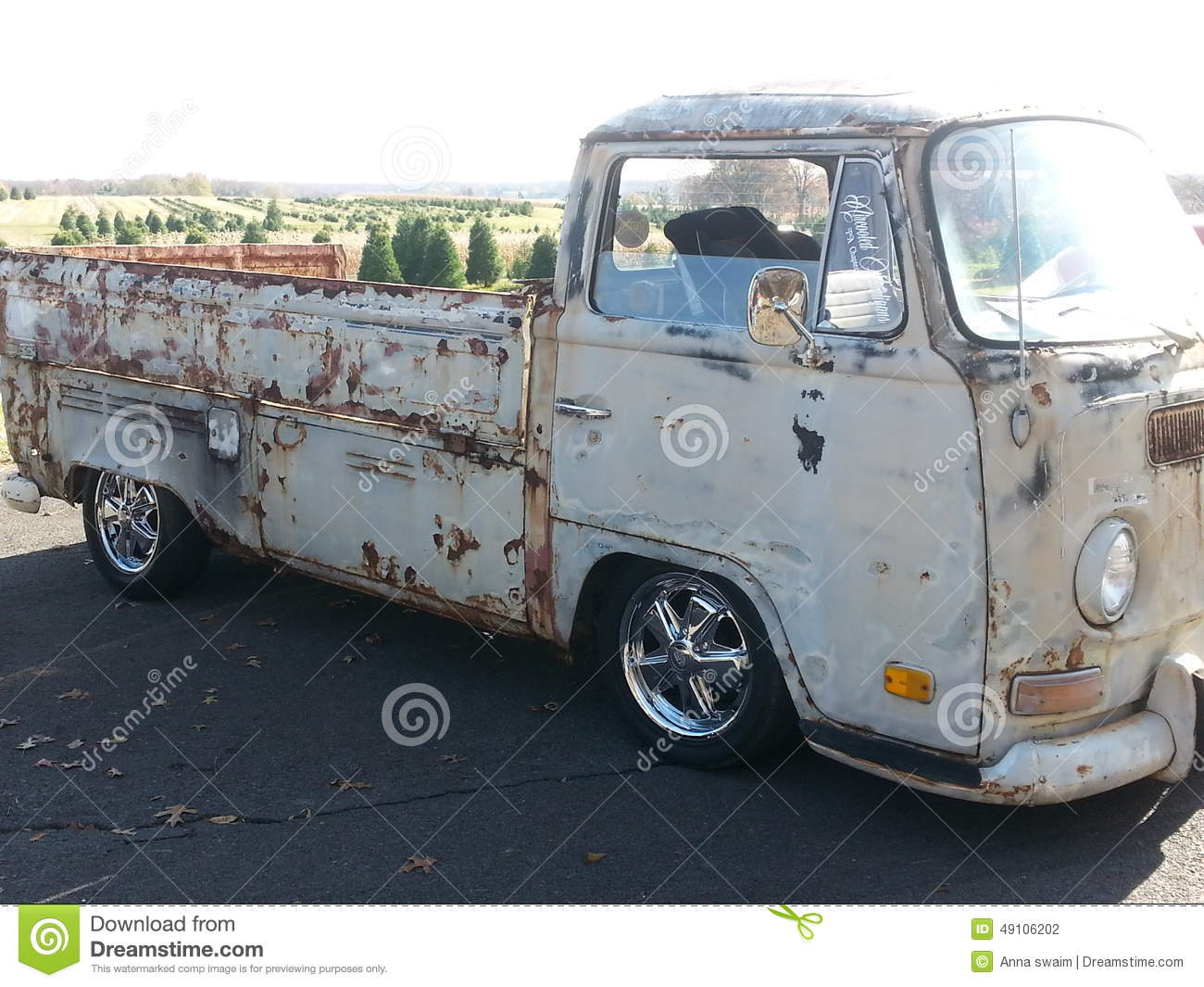 Old Vw pick up truck stock photo. Image of truck, sides - 49106202