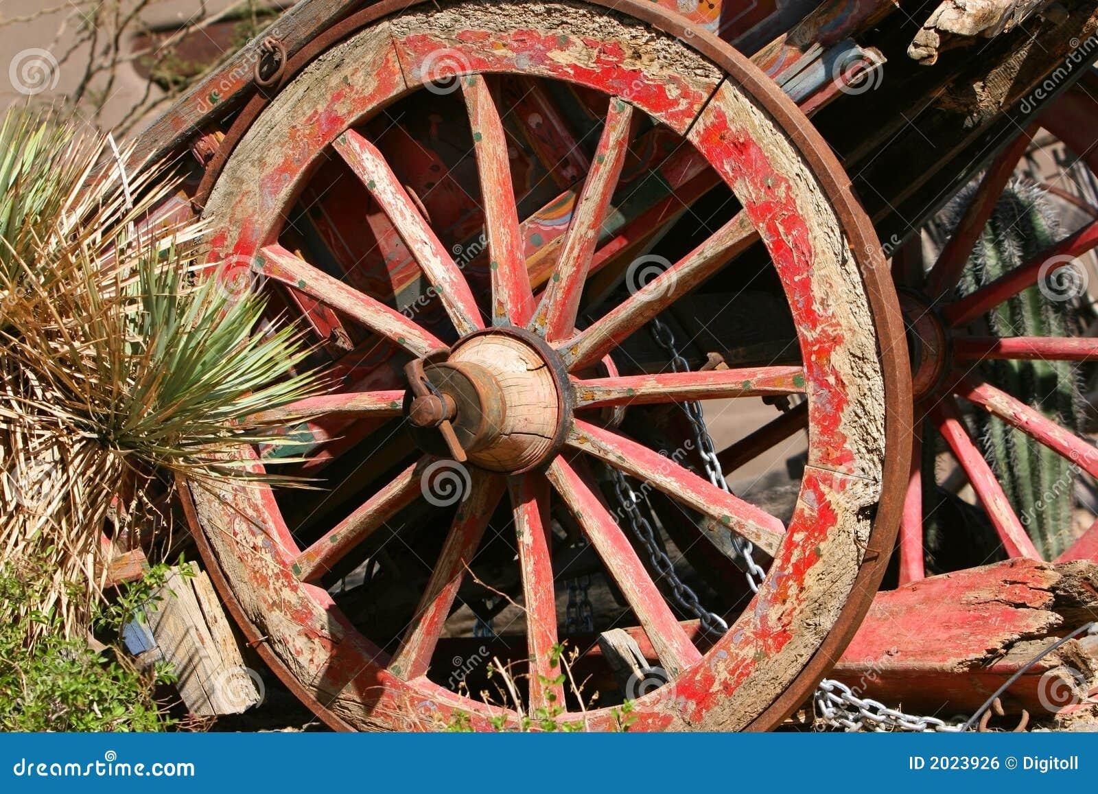 Old Wagon Among Cacti