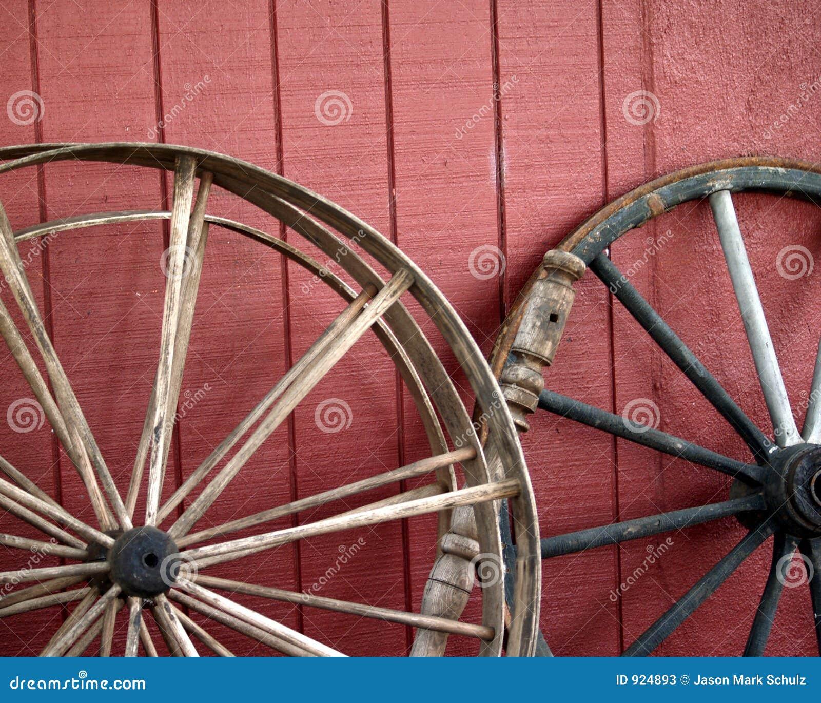 Old Wagon Wheels Stock Image Image Of Wagon Spokes Wall