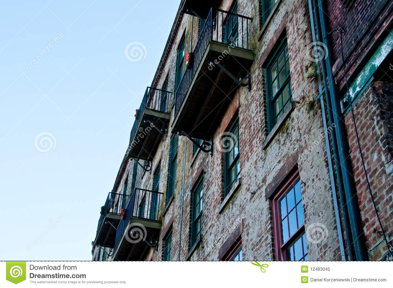 Old wall and Balconies
