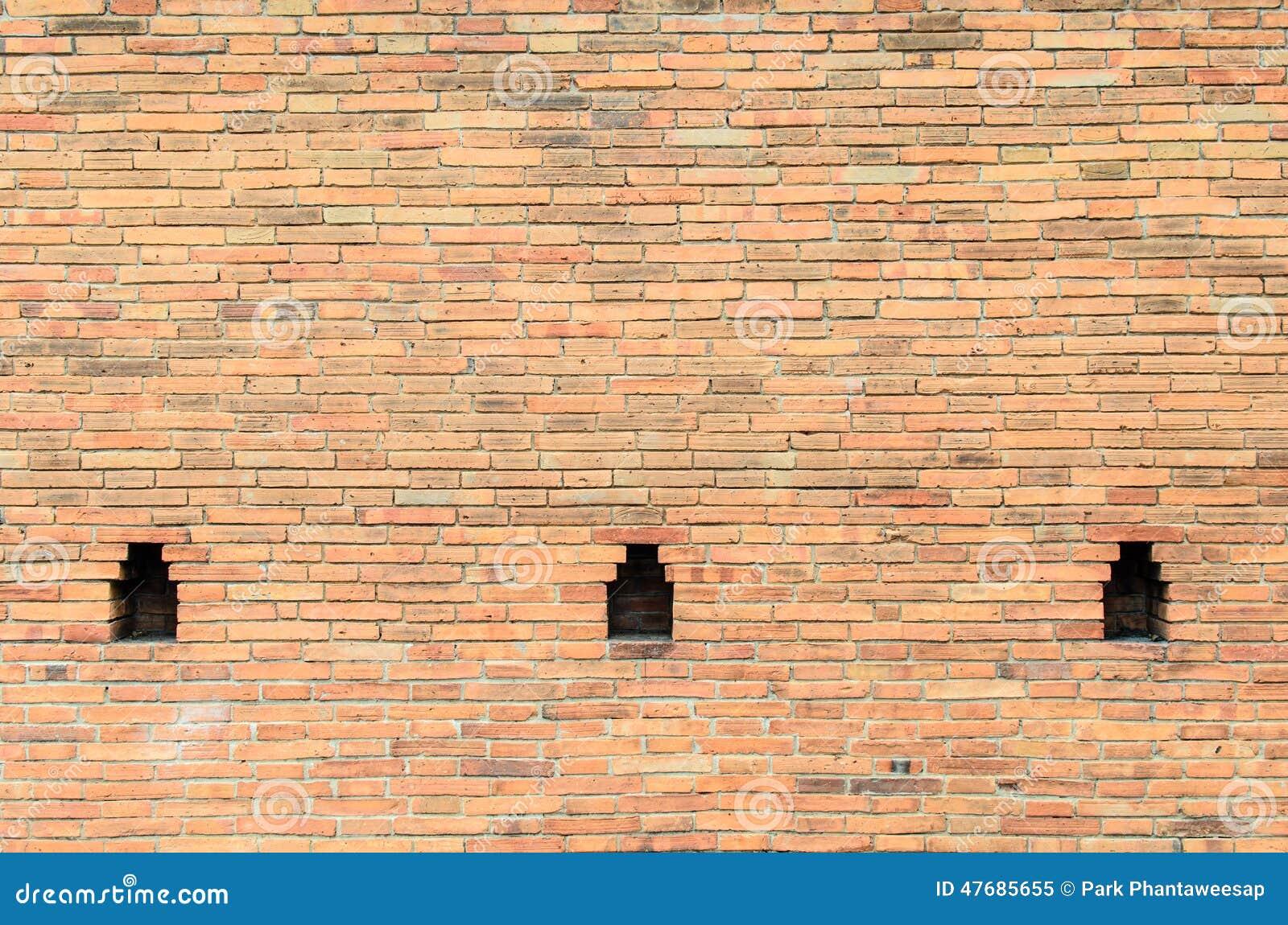 Old wall brick with cavity stock image. Image of orange - 47685655