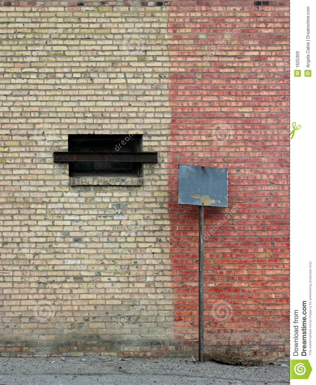 Old Wall City Blank Sign stock image. Image of brick ...