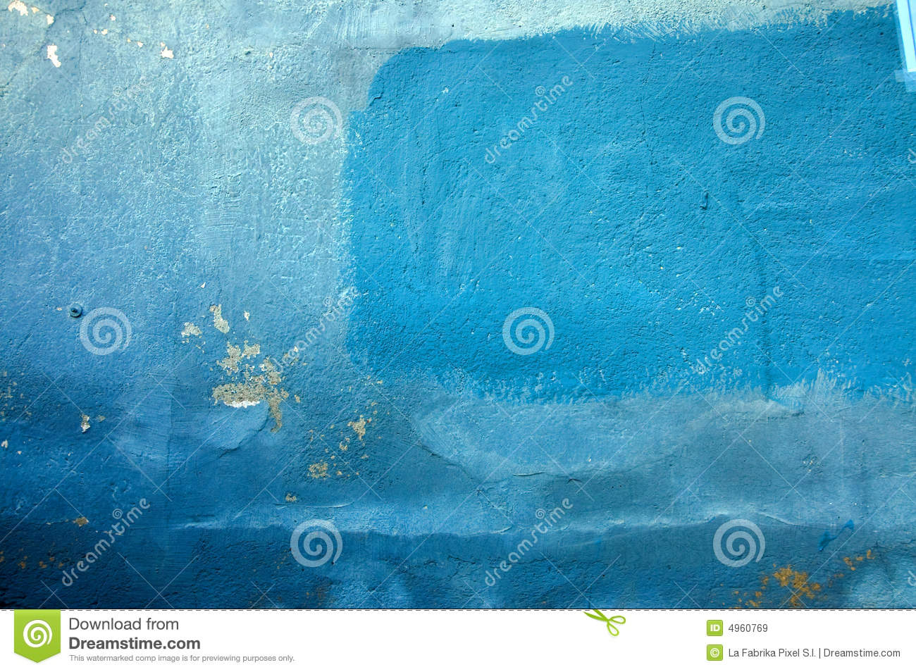 Shades Of Blue Paint old wall in different shades of blue royalty free stock images