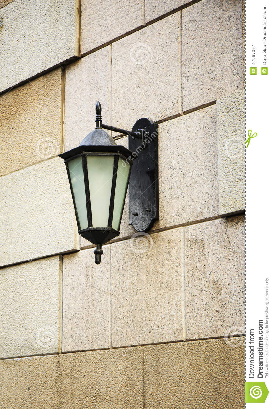 Outdoor Light Wall Lamp Lighting Stock Image