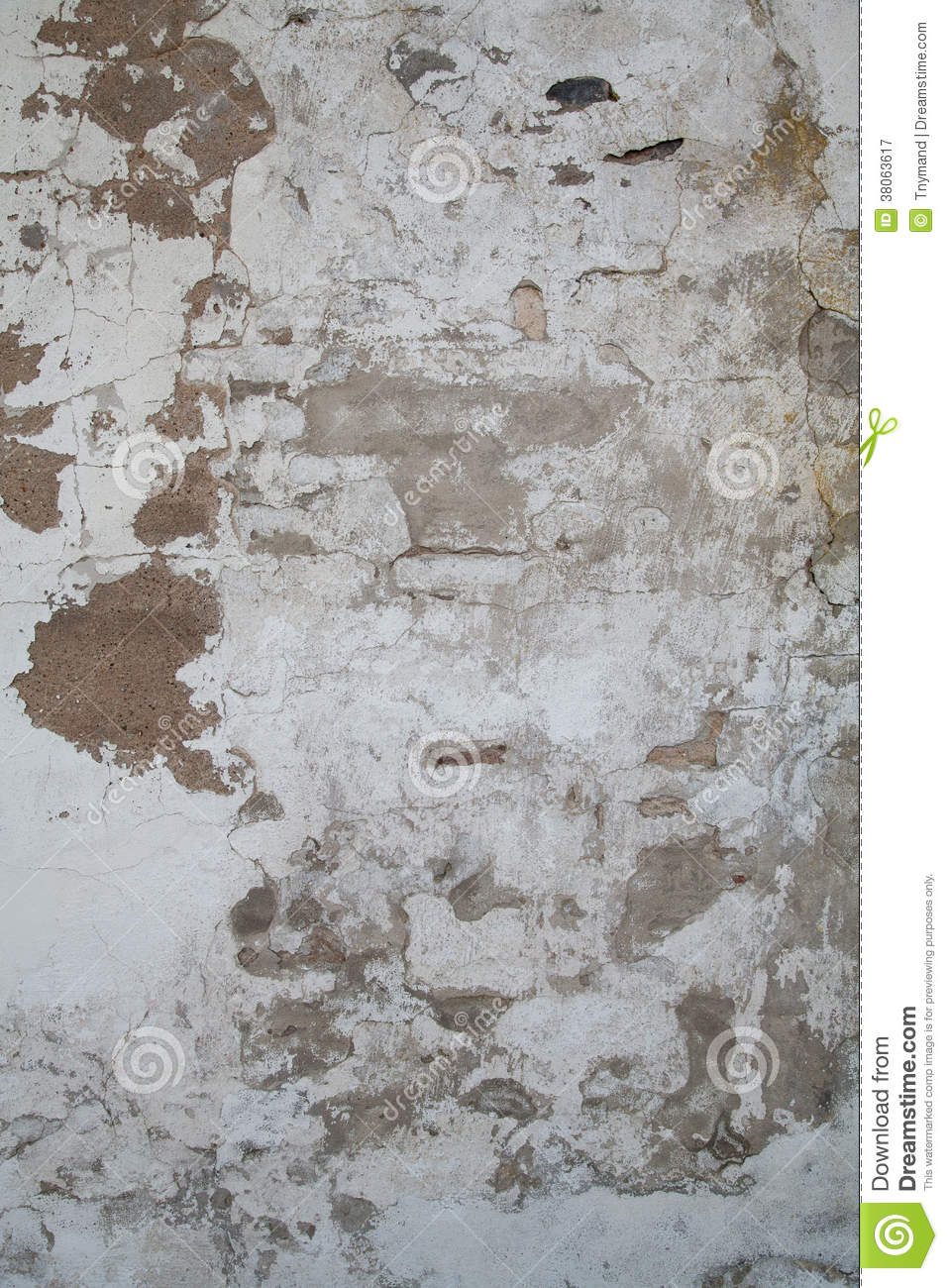 Old wall with paint and clay peeling off stock image image 38063617 - Behang materieel effect ...