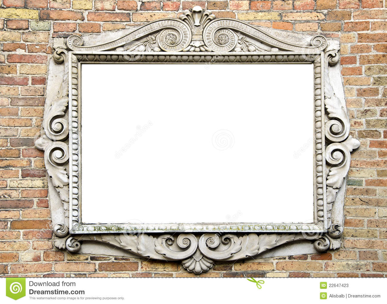 Old Wall With Vintage Frame For Text Stock Image - Image of picture ...