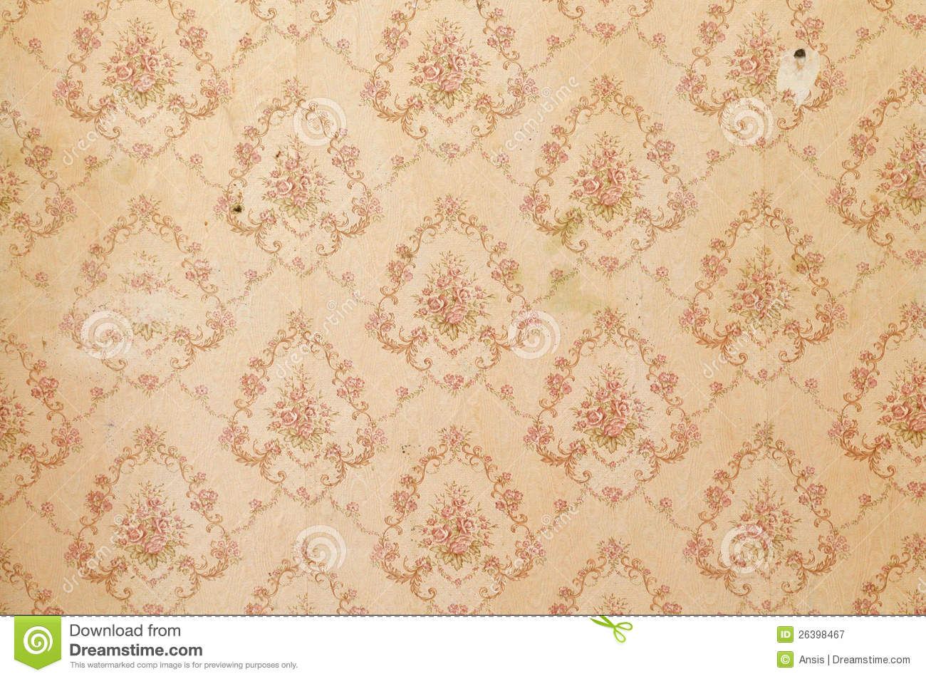 Old Wallpaper Background Stock Image Of Interior