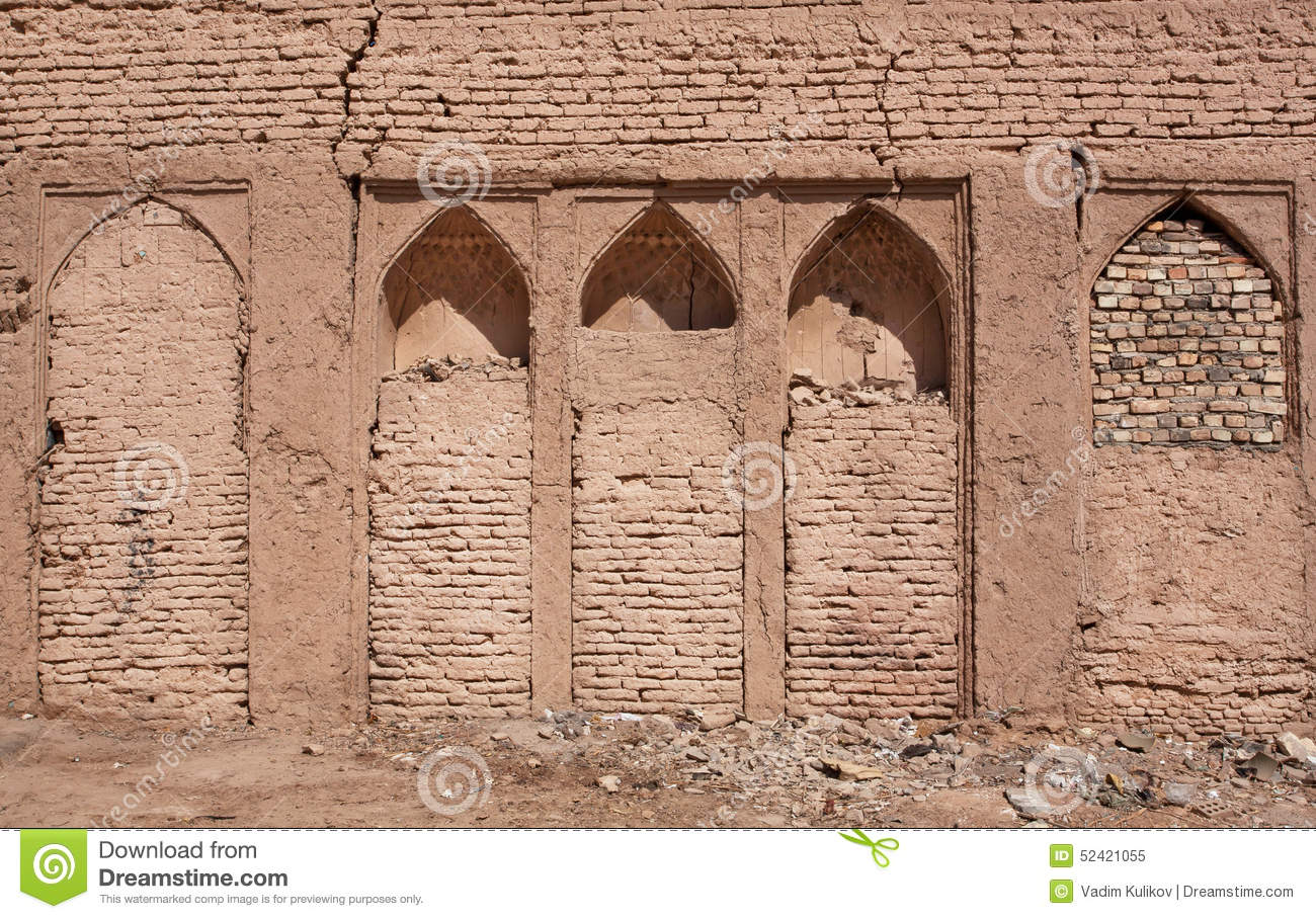 old walls of house in the middle east editorial image image