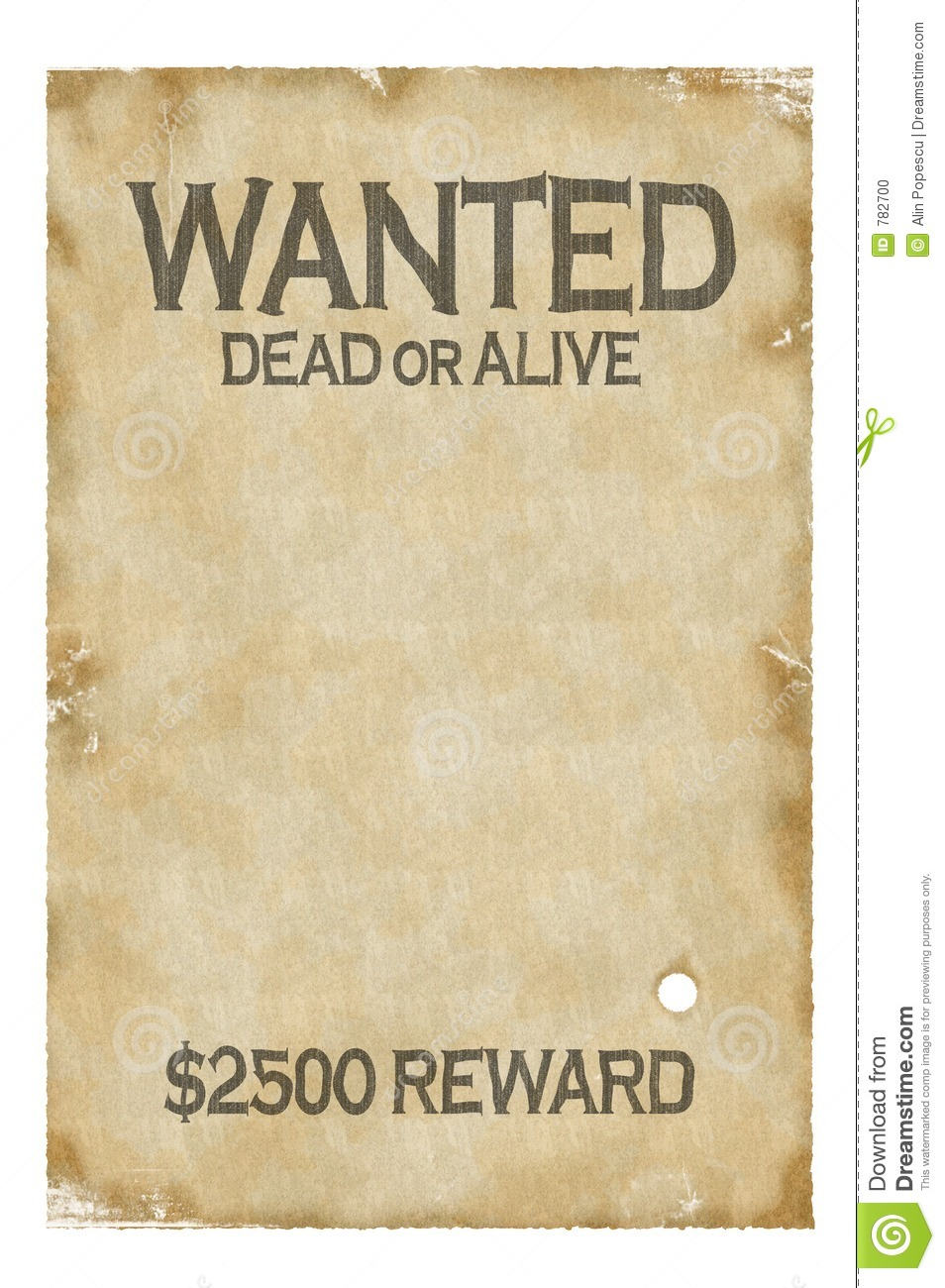 Old wanted poster template