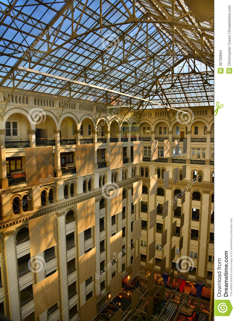 Old Washington Post Office, Interior Stock Images - Image: 36700894