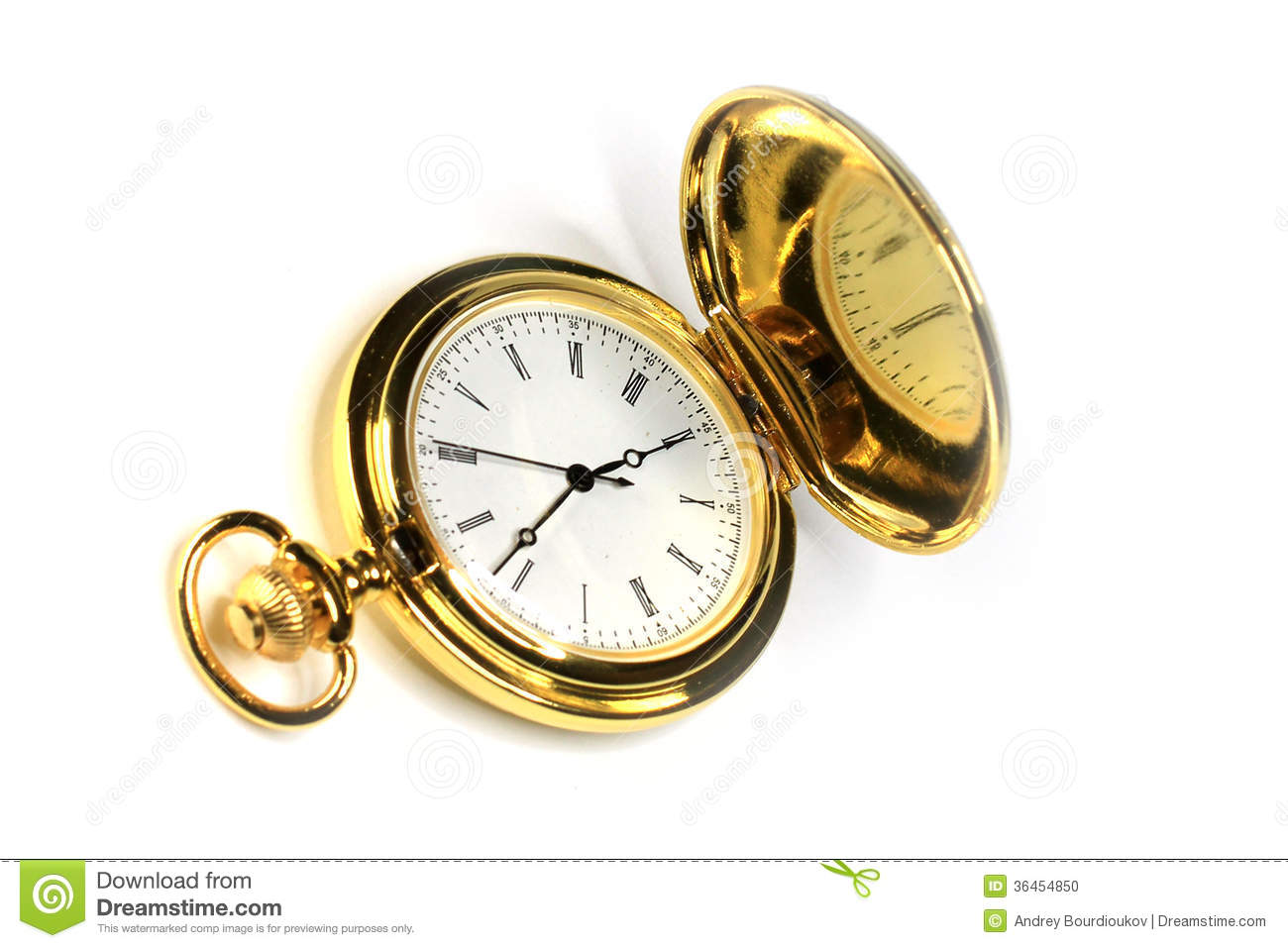Time Measuring Instruments : Old watch stock photo image