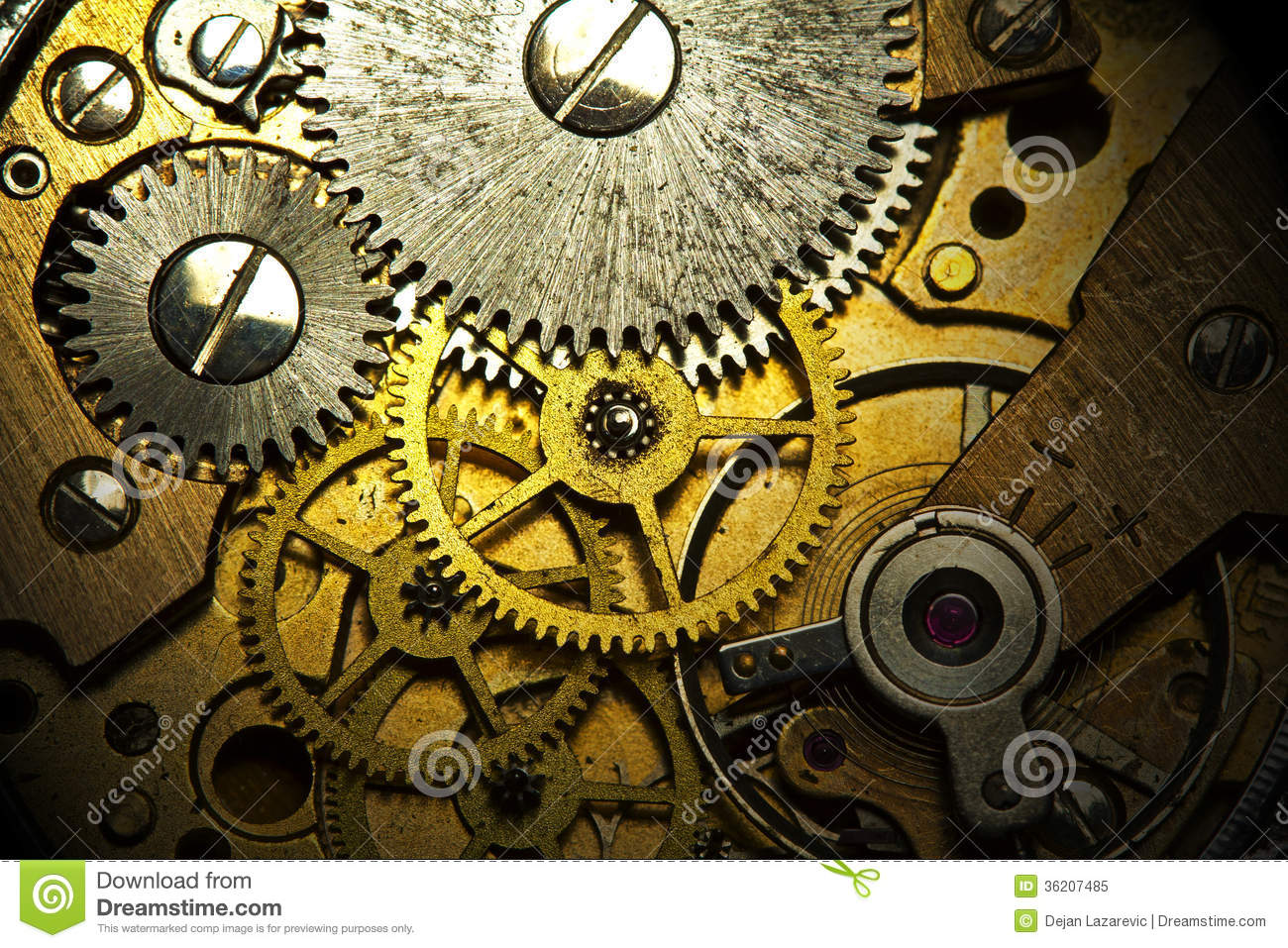 old watch mechanism stock image image of horologist