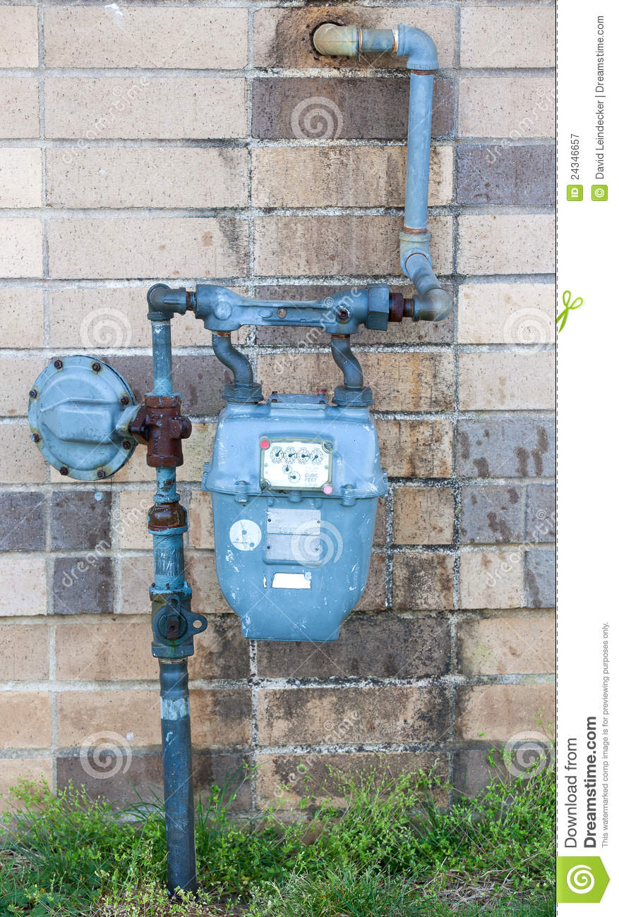 Old Water Meter Stock Image Image Of Concrete Flow