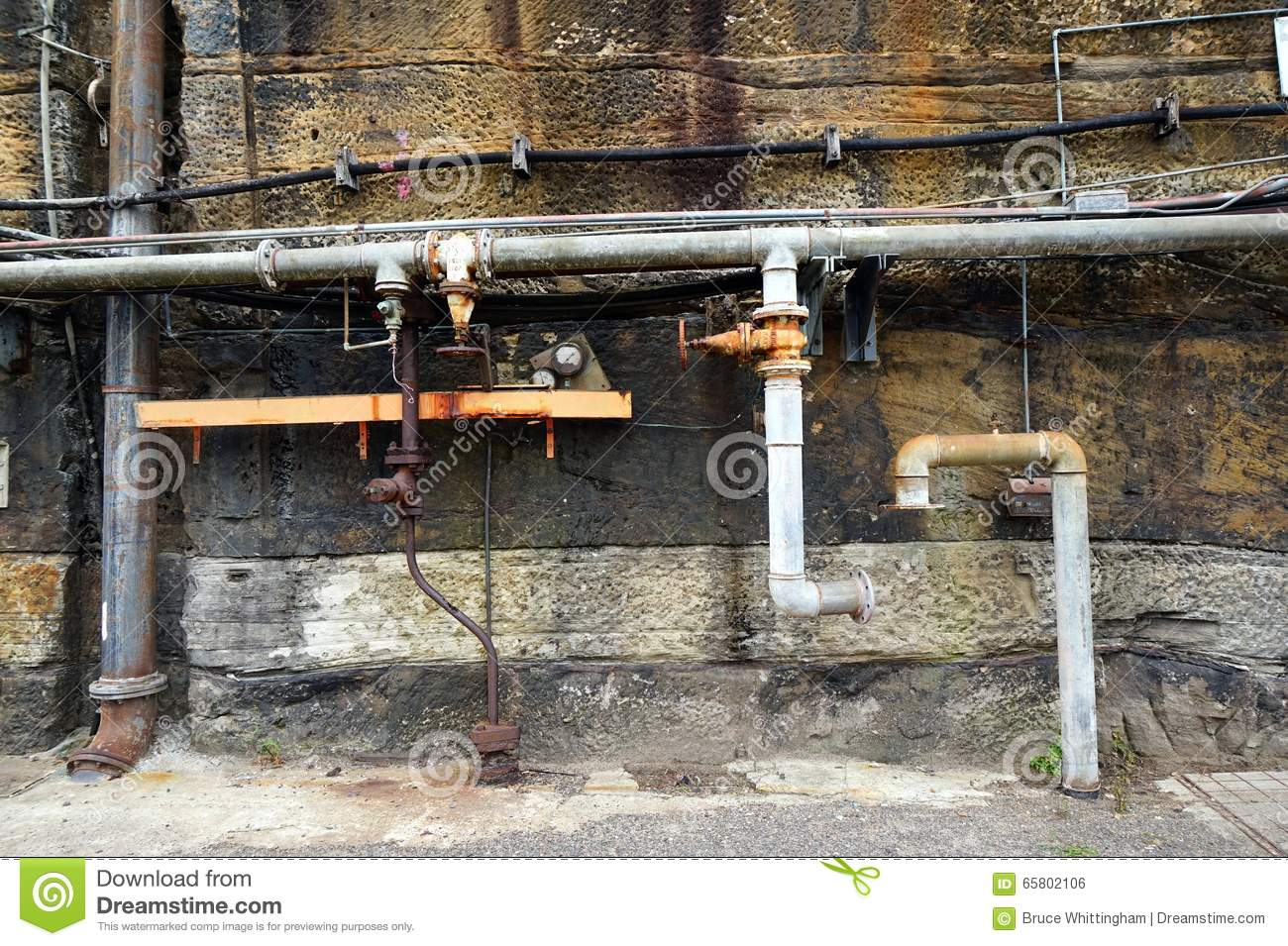 Old water pipes stock photo image 65802106 for What are old plumbing pipes made of
