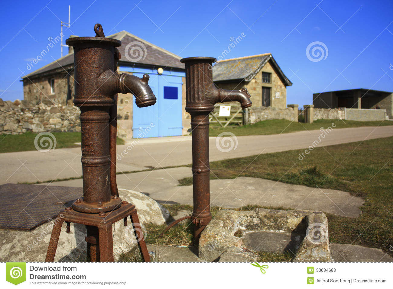 Old water pump. stock photo. Image of faucet, pump, handle - 33084688