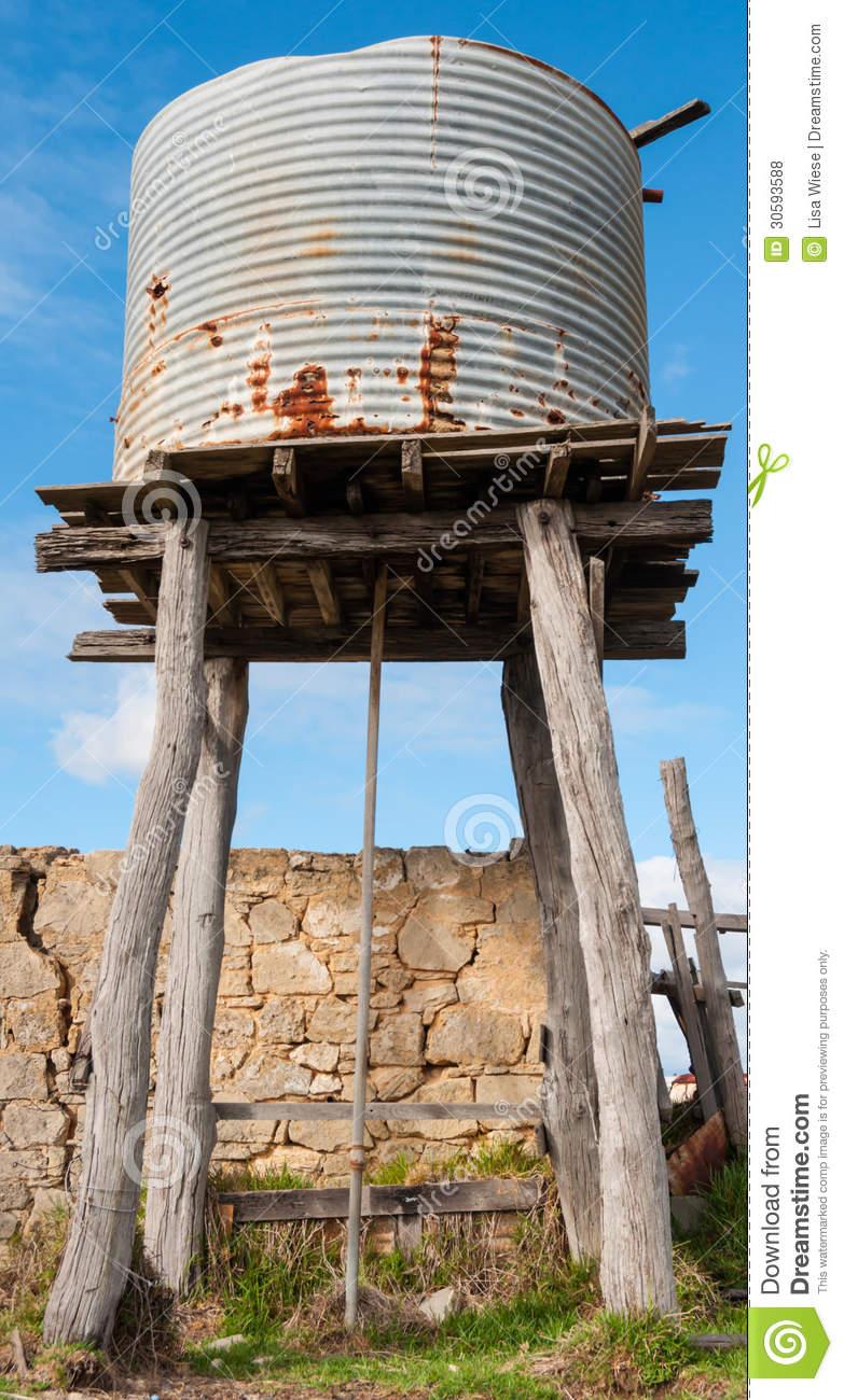 Old water tank stock photo  Image of iron, round, blue - 30593588