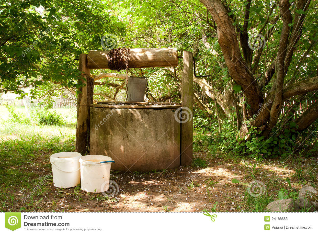 Photos of Old Water Wells http://www.dreamstime.com/royalty-free-stock-photos-old-water-well-image24188668