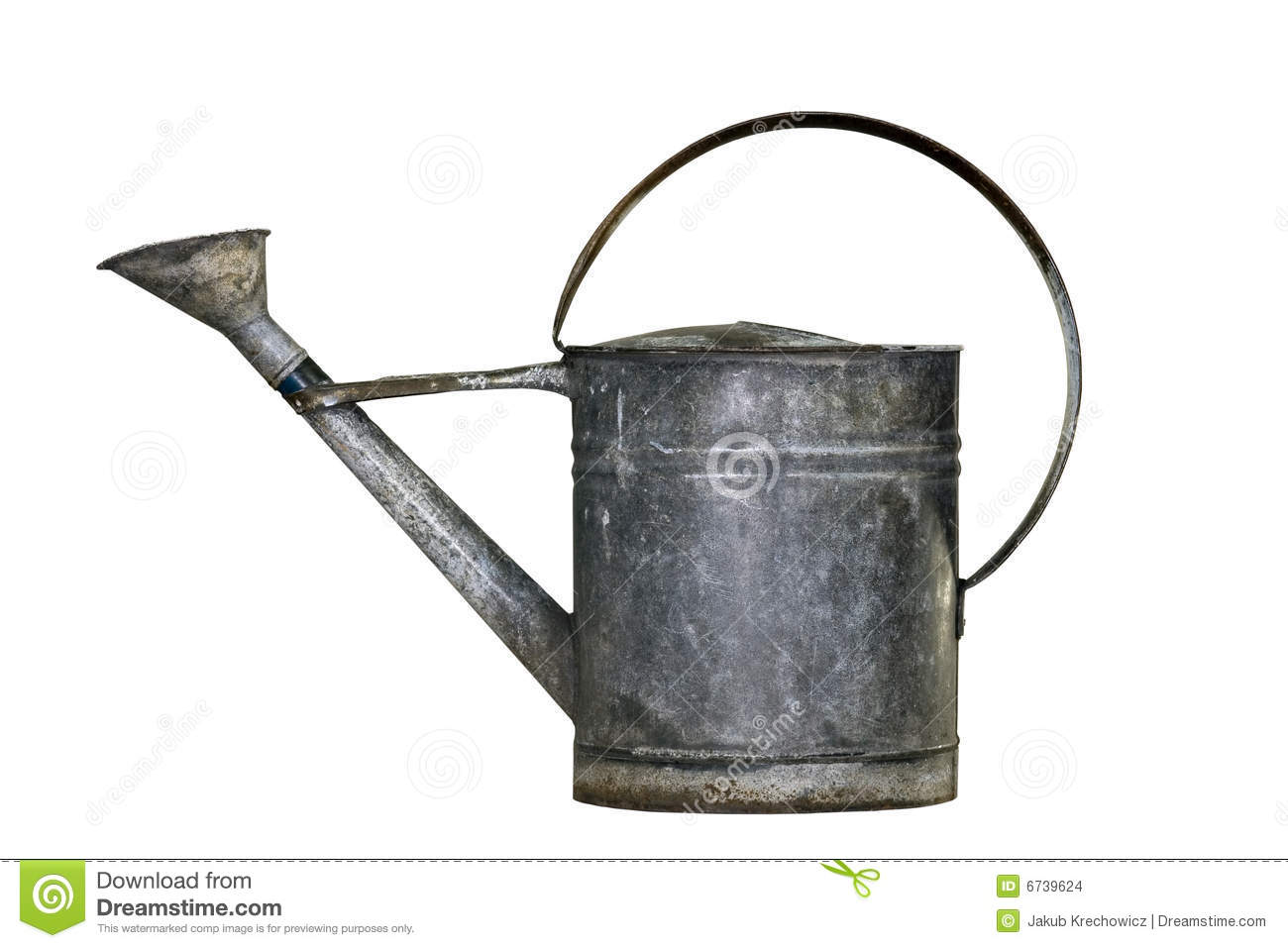 Old watering can stock images image 6739624 - Sprinkling cans ...