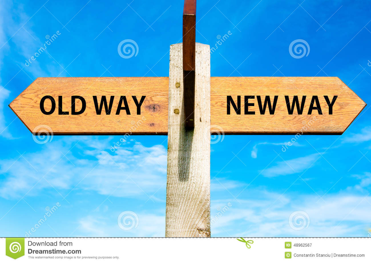 Old Way and New Way signs
