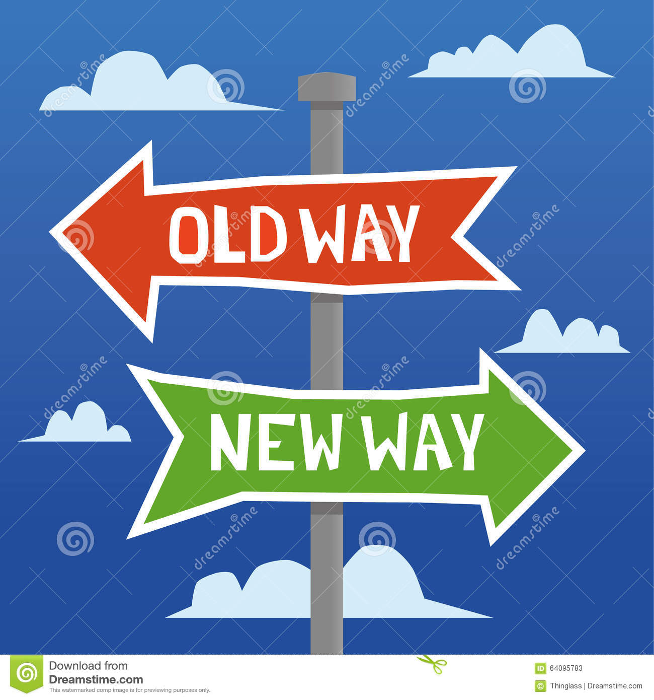 old way versus new way stock vector image 64095783 word clipart find word clipart find