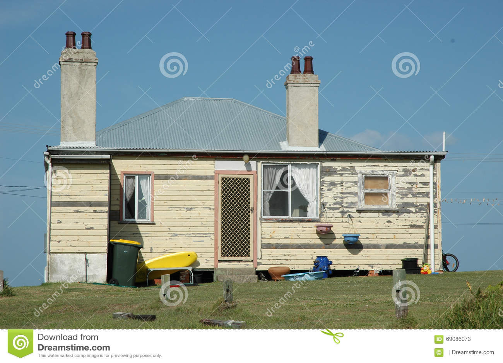 An old weather board house in Yamba, Australia